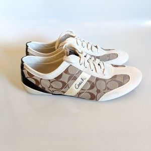 Coach Baylee Signature Sneakers Khi/Parch Size 10